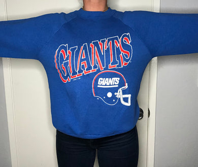 Vintage 1990 New York Giants Logo 7 Crewneck - L