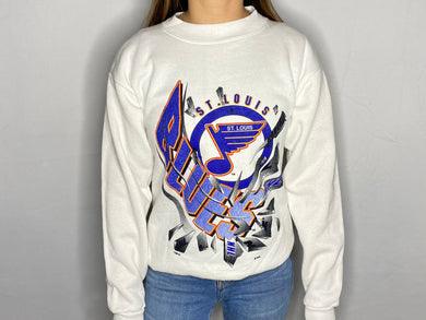Vintage St Louis Blues Old Logo Crew - Youth Large /Adult XS