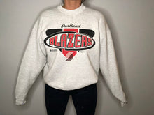 Load image into Gallery viewer, Vintage 2002 Portland Trail Blazers Light Grey Crew - L