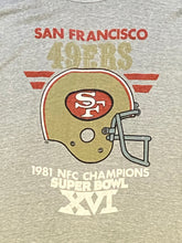 Load image into Gallery viewer, Vintage 1981 San Francisco 49ers NFC Champions Super Bowl XVI TSHIRT - XS/S