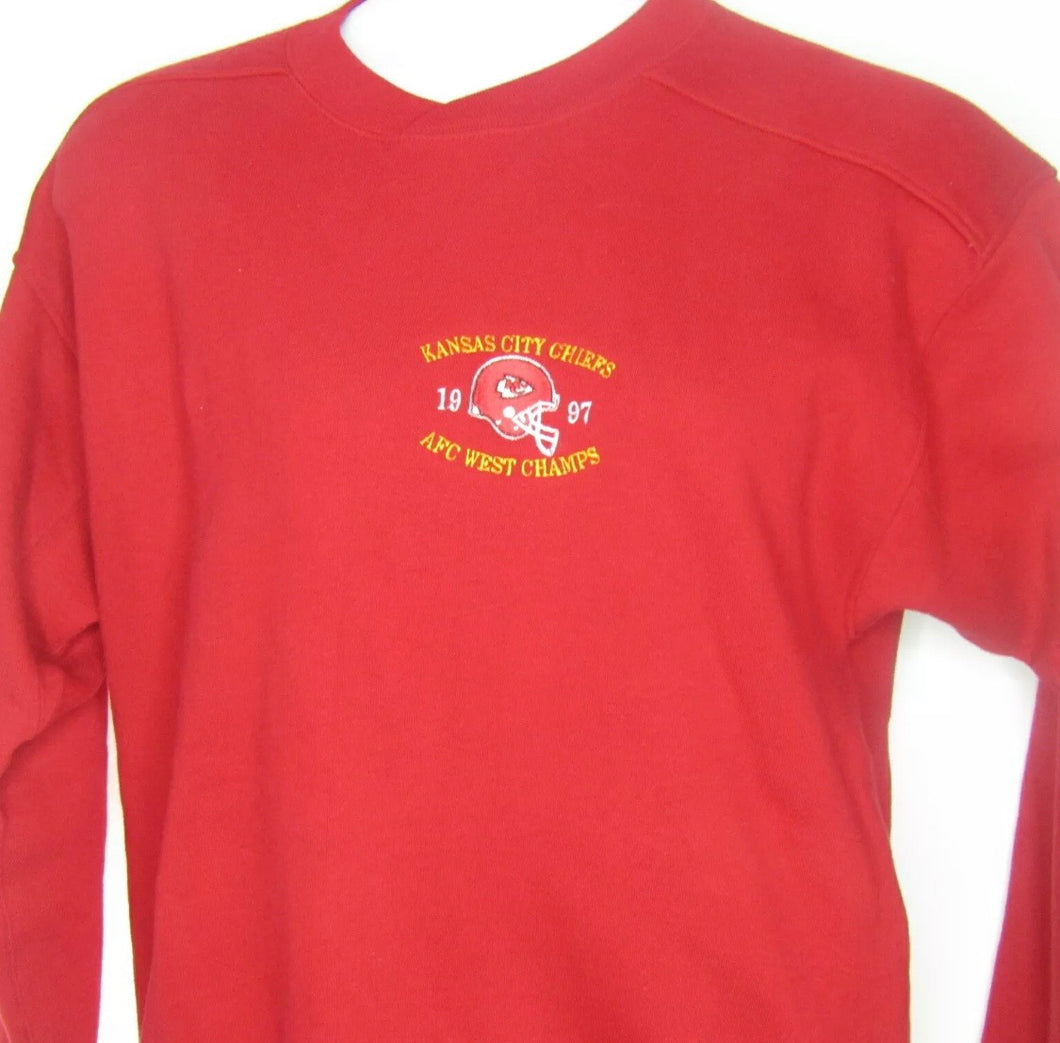 Vintage 1997 Kansas City Chiefs AFC West Champs Sweatshirt from STARTER - L