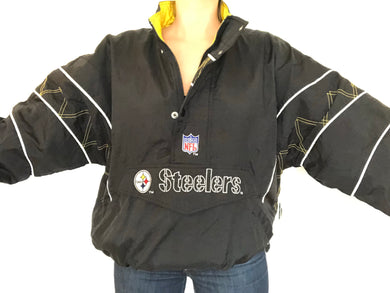 Pittsburgh Steelers Starter Jacket - L - Rad Max Vintage