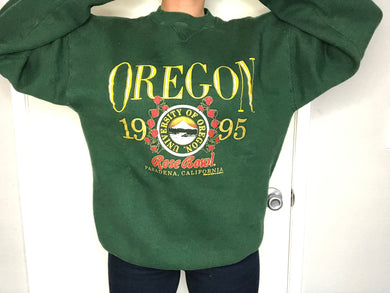 Vintage 1995 Oregon Ducks Rose Bowl Crewneck - XL