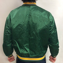 Load image into Gallery viewer, Vintage 80s Oakland A's Athletics Embroidered Satin Bomber Jacket - L