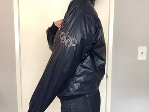 USA Olympics Zip Up w Hood - S & M - Rad Max Vintage