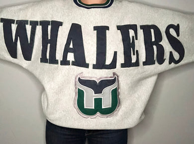 Hartford Whalers Spell Out Crewneck - XL