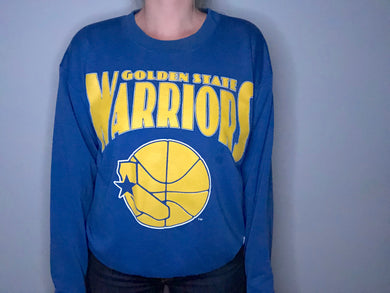 Vintage 1988-1996 Golden State Warriors Old Logo Crew - M/L
