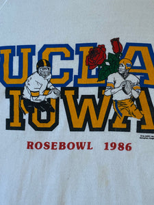 Vintage 1986 UCLA Bruins Iowa Hawkeyes Rose Bowl Crew -