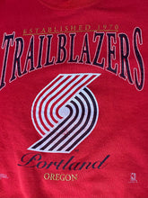 Load image into Gallery viewer, Vintage 1990s Portland Trailblazers Old Logo Crew - L