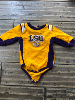 BABY LSU Louisiana State University onesie - 3-6 months