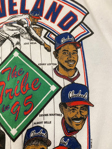"Vintage 1995 Cleveland Indians ""The Tribe in 95"" Crew - Youth L / Adult XS"