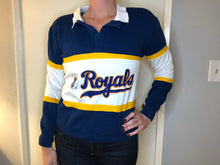Load image into Gallery viewer, Kansas City Royals Rugby Style Crew - S - Rad Max Vintage