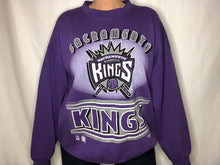 Load image into Gallery viewer, Vintage 1990s Sacramento Kings Old Logo Purple Crew - XL/XXL