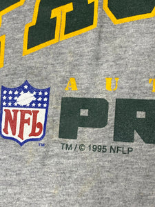 Vintage 1995 Green Bay Packers Authentic Pro Line Crop Top Cropped TSHIRT - XL