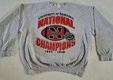Load image into Gallery viewer, Vintage 1995 University of Nebraska Huskers Football Champions Crew - XL