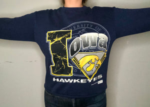 Vintage 1993 University of Iowa Hawkeyes Crew - M