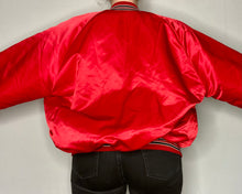 Load image into Gallery viewer, Vintage 1980s Chicago Bulls Chalk Line Satin Bomber Jacket - XXL