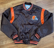 Load image into Gallery viewer, Vintage Cleveland Browns Satin Bomber Jacket from Swingster - L