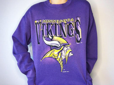 1994 Minnesota Vikings Double-Sided Crew - L - Rad Max Vintage