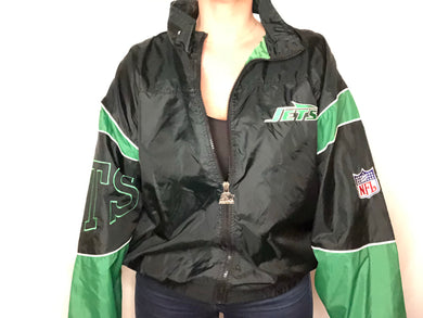 Vintage New York Jets Old Logo Starter Jacket Windbreaker - XL