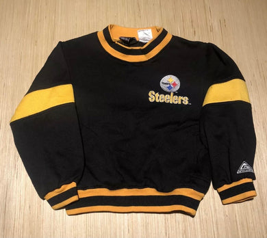 Vintage 1990s Pittsburgh Steelers Kids Crew with Pockets! - Youth Small