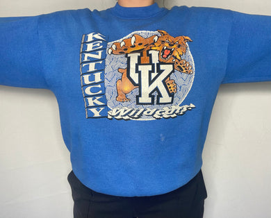 Vintage 1989-1994 University of Kentucky Wildcats OLD LOGO Crew - L/XL