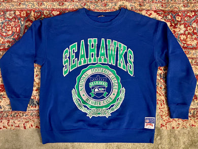 Vintage 90s Seattle Seahawks Crew from Nutmeg Mills - L