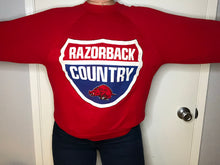 "Load image into Gallery viewer, Vintage 1980s University of Arkansas Razorbacks ""Razorback Country"" Crew - M"