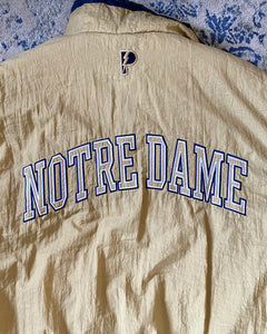 Vintage University of Notre Dame Fighting Irish Reversible Full Zip Puffer Jacket from Pro Player - XL