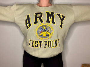 Vintage Army West Point USMA Galt Sand Crew - L