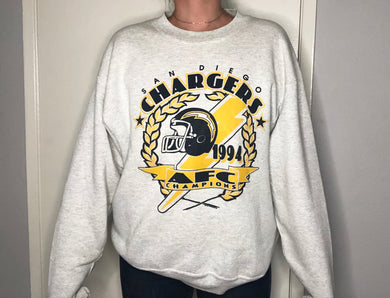 Vintage 1994 San Diego Chargers AFC Champs Crew - L/XL