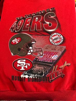 Vintage 1994 San Francisco 49ers Monday Night Football 25th Anniversary Crew - M