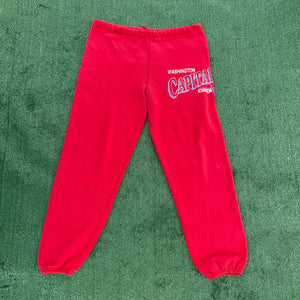 Vintage Late 80s-early 90s Washington Capitals Old Logo Sweatpants (!!!) - S