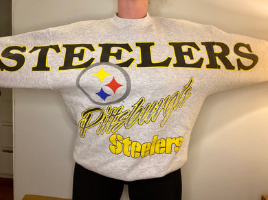 Vintage 1994 Pittsburgh Steelers Across Shoulder Crew - L