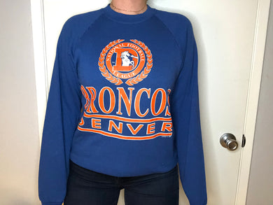 Vintage late 80s-early 90s Denver Broncos Logo 7 Old Logo Crew - M