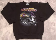 Load image into Gallery viewer, Vintage 90s Baltimore Ravens Pro Player Crew - Youth Medium 10/12 / Adult XS