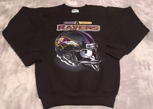 Vintage 90s Baltimore Ravens Pro Player Crew - Youth Medium 10/12 / Adult XS