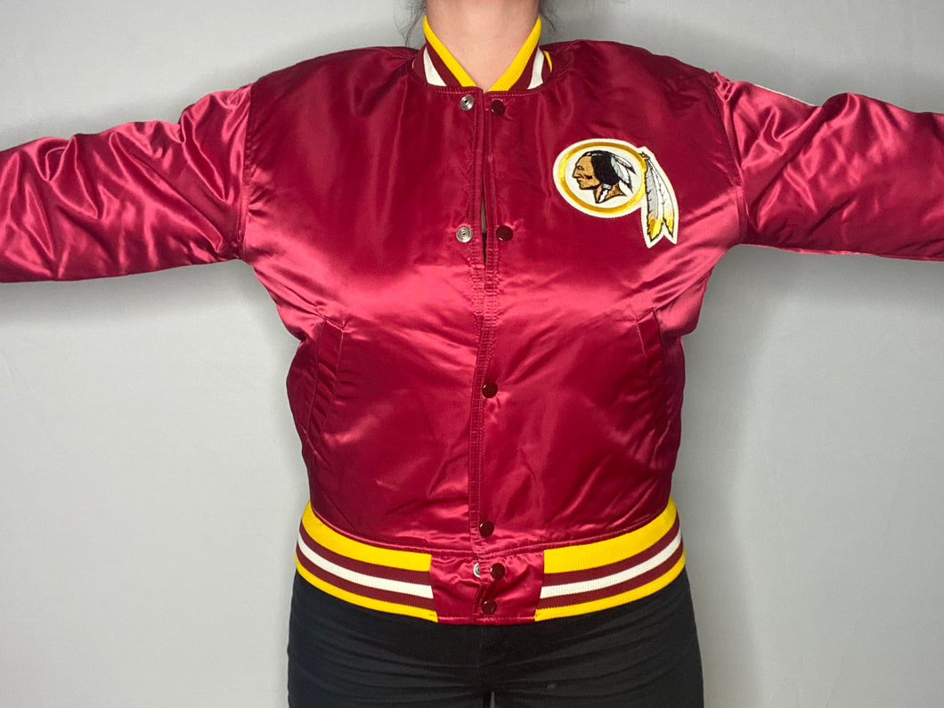 Vintage Washington Redskins / Football Team Satin Bomber STARTER JACKET - S