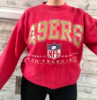 Vintage 1994 San Francisco 49ers Logo Athletic Authentic Pro Line Crew - M/L