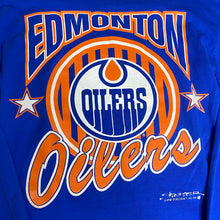 Load image into Gallery viewer, Vintage 1991 Edmonton Oilers Long Sleeve Crewneck TSHIRT from STARTER - S