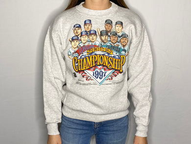 Vintage 1997 Cleveland Indians & Florida Marlins World Series Championship Crew - Youth Large / Adult XS