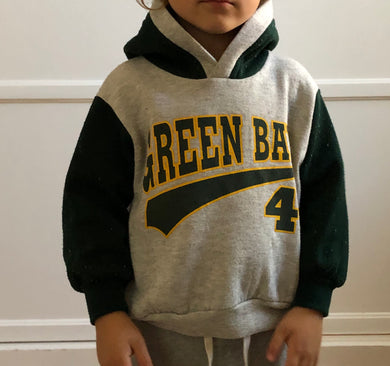Green Bay Packers Toddler Hoodie - 3T - Rad Max Vintage