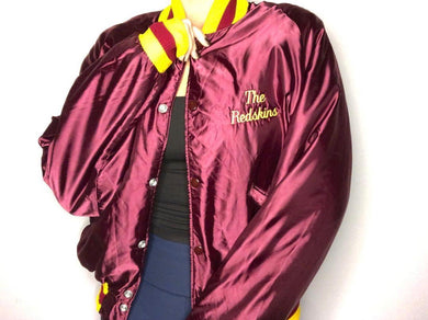 Washington Redskins Satin Bomber - L - Rad Max Vintage
