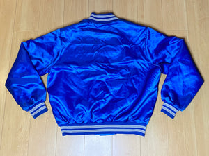 Vintage 1980s Detroit Lions Locker Line Satin Bomber Jacket with Helmet Logo  - L