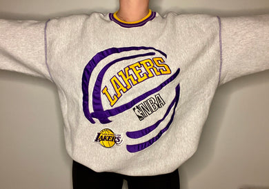 Vintage 90s Los Angeles LA Lakers Crew - XXL