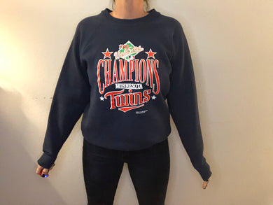 Vintage 1987 Minnesota Twins World Series Champions Crew - M