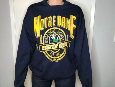 Notre Dame Fighting Irish Crew - XL - Rad Max Vintage
