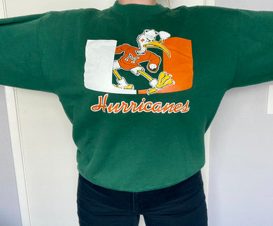 Vintage University of Miami Old Logo Crew - L /XL