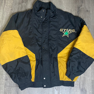 Vintage 1991-1993 Dallas Stars Original Logo Full Zip Puffer Jacket from Competitor - L