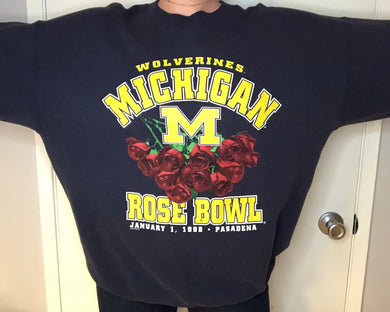 Vintage 1998 University of Michigan Wolverines Football Rose Bowl - XL